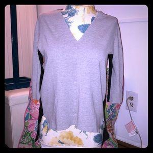 Cool Zara Hi-low Colorblocked Stretch Sweater
